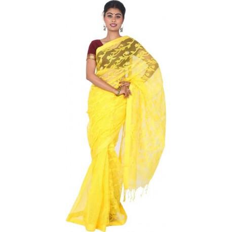 Woven Jamdani ( Blend ) Saree
