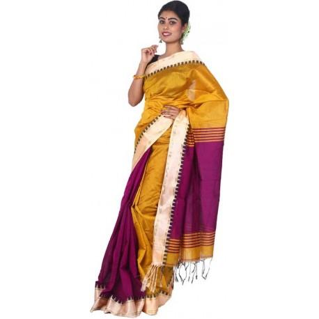 Woven Cotton Silk Blend Saree