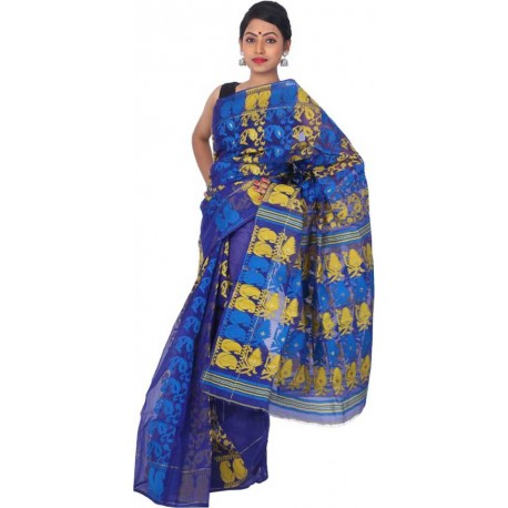 Woven Jamdani Cotton Saree