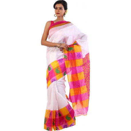 Printed Fashion Cotton Polyester Blend Saree  (Multicolor)