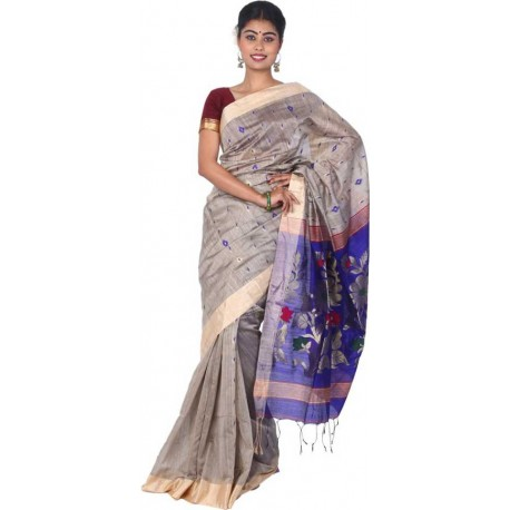 Woven Fashion Multicolor Cotton Silk Saree  (Multicolor)