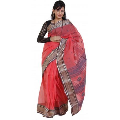 Sanrocks Global Fashions Printed Tant Cotton Saree  (Multicolor)