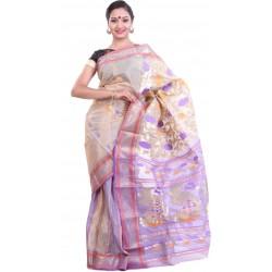 Woven Garad Silk Saree (Multicolor)