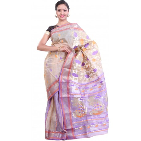 Woven Silk Saree (Multicolor)
