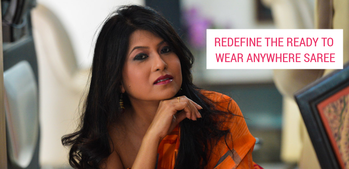 Redefine the Ready to Wear Anywhere Saree