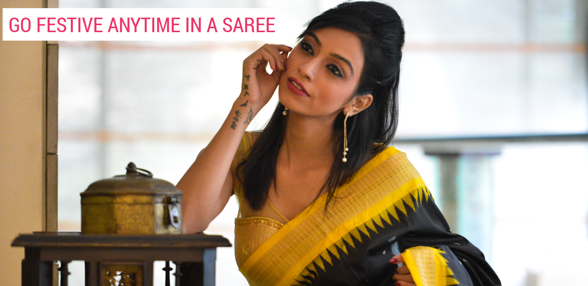 Go Festive Anytime in a Saree